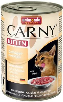 ANIMONDA Cat Carny Kitten skonis: vištienos kokteilis 400g