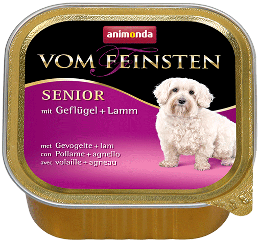 ANIMONDA Dog Vom Feinsten Senior skonis: paukštiena su ėriena 150g