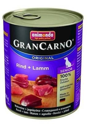 ANIMONDA GranCarno Senior skonis: jautiena + ėriena 800g