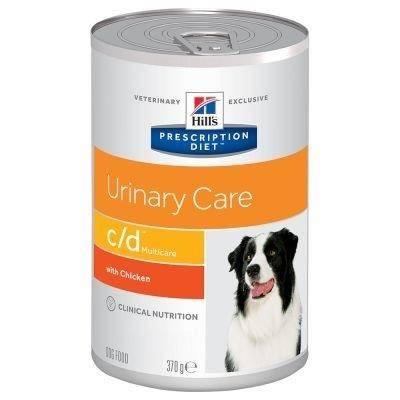HILL'S PD Prescription Diet Canine c/d With Chicken su vištiena konsėrvai šunims 370g