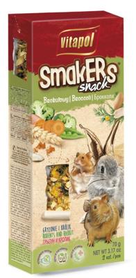 """VITAPOL Flakonai graužikams """"Smakers"""" brokoliai 2 vnt."""