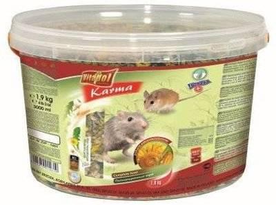 VITAPOL Visavertis maistas pelėms ir pelėkautams 1,9 kg kibirėlis